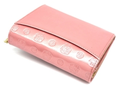 モノグラム 二つ折り財布(小銭入れあり) 「ゴールドファイル」 GP36315 ピンク 裏面