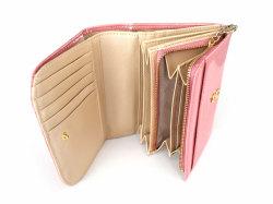 モノグラム 二つ折り財布(小銭入れあり) 「ゴールドファイル」 GP36315 ピンク 内作り