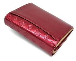 モノグラム 二つ折り財布(小銭入れあり) 「ゴールドファイル」 GP36315 ワイン 裏面