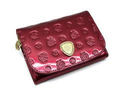 モノグラム 二つ折り財布(小銭入れあり) 「ゴールドファイル」 GP36315 ワイン 正面