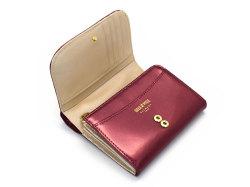 モノグラム 二つ折り財布(小銭入れあり) 「ゴールドファイル」 GP36315 ワイン 内作り
