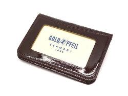 モノグラム 二つ折り財布パスケース  「ゴールドファイル」 GP36465 バーガンディ 裏面