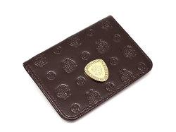 モノグラム 二つ折り財布パスケース  「ゴールドファイル」 GP36465 バーガンディ 正面