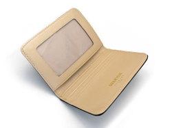 モノグラム 二つ折り財布パスケース  「ゴールドファイル」 GP36465 バーガンディ 内作り