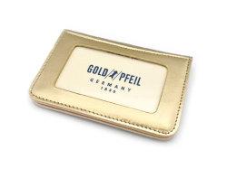 モノグラム 二つ折り財布パスケース  「ゴールドファイル」 GP36465 ゴールド 裏面