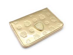 モノグラム 二つ折り財布パスケース  「ゴールドファイル」 GP36465 ゴールド 正面