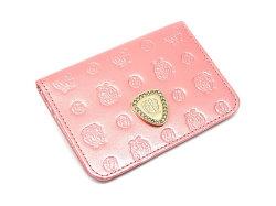 モノグラム 二つ折り財布パスケース  「ゴールドファイル」 GP36465 ピンク 正面