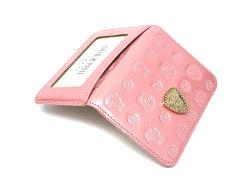 モノグラム 二つ折り財布パスケース  「ゴールドファイル」 GP36465 ピンク 特徴
