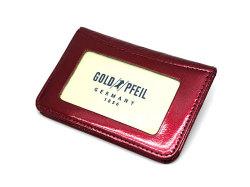 モノグラム 二つ折り財布パスケース  「ゴールドファイル」 GP36465 ワイン 裏面