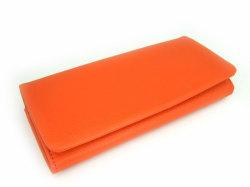 Natural(ナチュラル) 長財布 「ゴールドファイル」 GP54016 オレンジ 正面