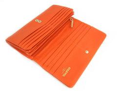 Natural(ナチュラル) 長財布 「ゴールドファイル」 GP54016 オレンジ 内作り