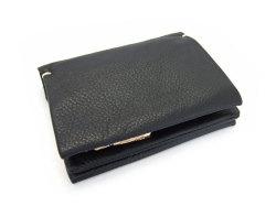 Natural(ナチュラル) 二つ折り財布(ファスナー小銭入れ付き) 「ゴールドファイル」 GP54214 クロ 正面