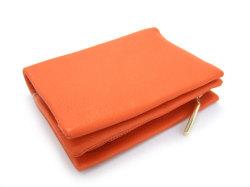 Natural(ナチュラル) 二つ折り財布(ファスナー小銭入れ付き) 「ゴールドファイル」 GP54214 オレンジ 裏面