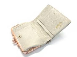 Natural(ナチュラル) 二つ折り財布(がま口小銭入れあり) 「ゴールドファイル」 GP54312 アイボリー 内作り