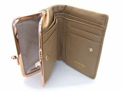 Natural(ナチュラル) 二つ折り財布(がま口小銭入れあり) 「ゴールドファイル」 GP54312 オーク 内作り