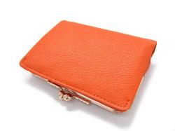 Natural(ナチュラル) 二つ折り財布(がま口小銭入れあり) 「ゴールドファイル」 GP54312 オレンジ 裏面