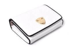 LINES(ラインズ) 二つ折り財布(小銭入れあり) 「ゴールドファイル」 GP57213 シロ 正面