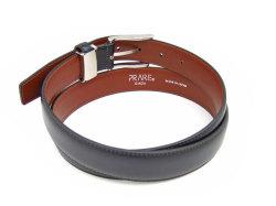 牛革 グラデーション ベルト 30mm幅 ピン式 「プレリーギンザ」 NB01080 クロ 裏面