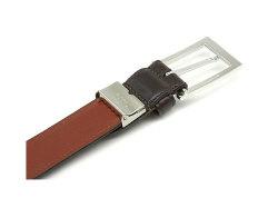 Maximum(マキシマム) 30mm幅 ピン式 ベルト「プレリーギンザ」 NB10519 チョコ 裏面2