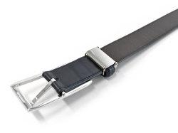 Maximum(マキシマム) イタリーベビーカーフベルト 30mm幅 ピン式 ベルト「プレリーギンザ」 NB10619 コン 裏面