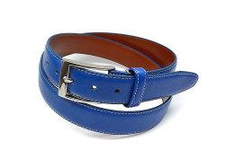 牛革型押しベルト ピン式 「プレリーギンザ」 NB13980 ブルー 正面