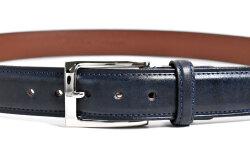 アンティークレザー ベルト 33mm幅 ピン式 「プレリーギンザ」 NB15911 コン 正面