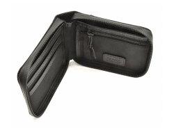 ACTIVE(アクティブ) アウトドアラウンドファスナー二つ折り財布 「プレリー1957」 NP00210 ブラック 内作り