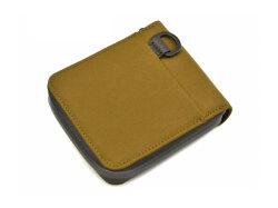 ACTIVE(アクティブ) アウトドアラウンドファスナー二つ折り財布 「プレリー1957」 NP00210 ベージュ 裏面