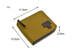 ACTIVE(アクティブ) アウトドアラウンドファスナー二つ折り財布 「プレリー1957」 NP00210 サイズ