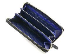 Cordovan Color(コードバンカラー)ラウンドファスナー長財布  「プレリー1957」 NP01029 クロ/ブルー 内作り