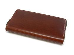 Cordovan Color(コードバンカラー)ラウンドファスナー長財布  「プレリー1957」 NP01029 チョコ 正面