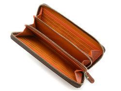 Cordovan Color(コードバンカラー)ラウンドファスナー長財布  「プレリー1957」 NP01029 チョコ 内作り