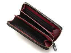 Cordovan Color(コードバンカラー)ラウンドファスナー長財布  「プレリー1957」 NP01029 クロ/アカ 内作り