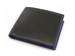 Cordovan Color(コードバンカラー)二つ折り財布(小銭入れあり)「プレリー1957」 NP01220 クロ/ブルー 正面