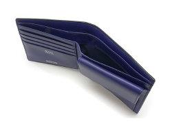 Cordovan Color(コードバンカラー)二つ折り財布(小銭入れあり)「プレリー1957」 NP01220 クロ/ブルー 内作り