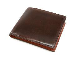 Cordovan Color(コードバンカラー)二つ折り財布(小銭入れあり)「プレリー1957」 NP01220 チョコ 正面