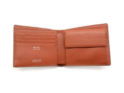 Cordovan Color(コードバンカラー)二つ折り財布(小銭入れあり)「プレリー1957」 NP01220 チョコ 内作り