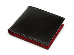 Cordovan Color(コードバンカラー)二つ折り財布(小銭入れあり)「プレリー1957」 NP01220 クロ/アカ 正面