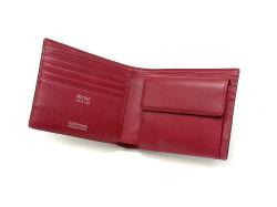 Cordovan Color(コードバンカラー)二つ折り財布(小銭入れあり)「プレリー1957」 NP01220 クロ/アカ 内作り