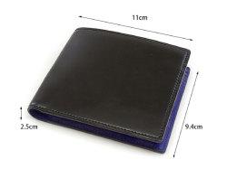 Cordovan Color(コードバンカラー)二つ折り財布(小銭入れあり)「プレリー1957」 NP01220 サイズ