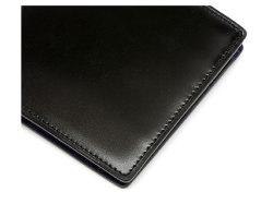 Cordovan Color(コードバンカラー)二つ折り財布(小銭入れなし)「プレリー1957」 NP01318 クロ/ブルー 特徴