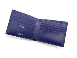 Cordovan Color(コードバンカラー)二つ折り財布(小銭入れなし)「プレリー1957」 NP01318 クロ/ブルー 内作り
