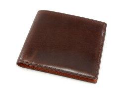 Cordovan Color(コードバンカラー)二つ折り財布(小銭入れなし)「プレリー1957」 NP01318 チョコ 正面