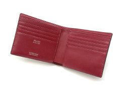 Cordovan Color(コードバンカラー)二つ折り財布(小銭入れなし)「プレリー1957」 NP01318 クロ/アカ 内作り