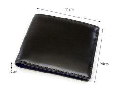 Cordovan Color(コードバンカラー)二つ折り財布(小銭入れなし)「プレリー1957」 NP01318 サイズ