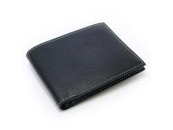 ピープル 二つ折り財布(小銭入れなし) 「プレリー1957」 NP10295 クロ/ブルー 正面