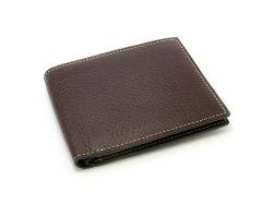 ピープル 二つ折り財布(小銭入れなし) 「プレリー1957」 NP10295 チョコ/グリーン 正面