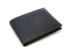 ピープル 二つ折り財布(小銭入れなし) 「プレリー1957」 NP10295 クロ/オレンジ 正面