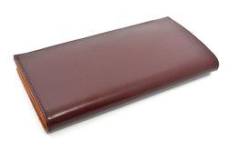 CORDOVAN1957(コードバン1957) 長財布(小銭入れあり) 「プレリー1957」 NP12127 チョコ 裏面