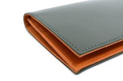 CORDOVAN1957(コードバン1957) 長財布(小銭入れあり) 「プレリー1957」 NP12127 グリーン 側面